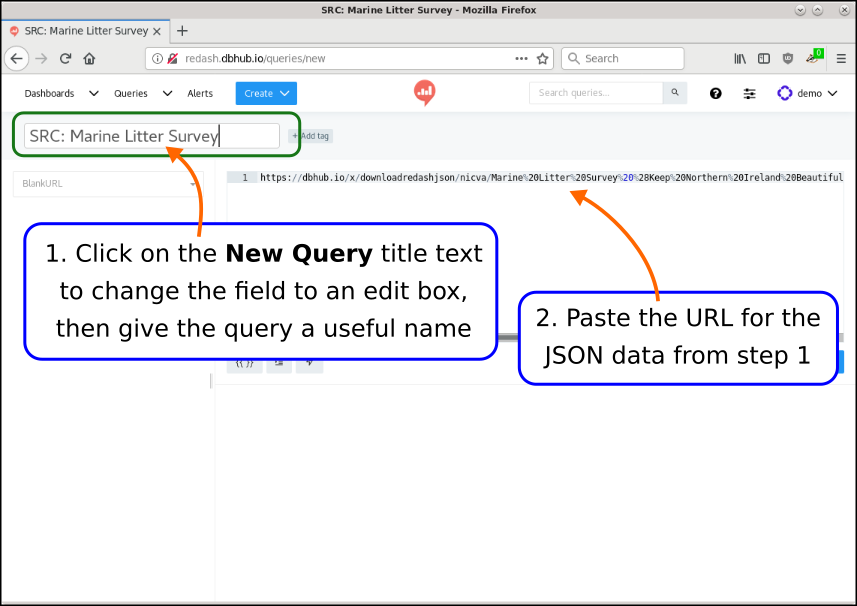 How to use the URL data source
